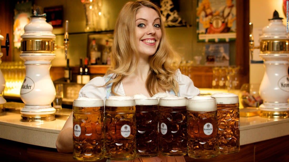 German-beer-served