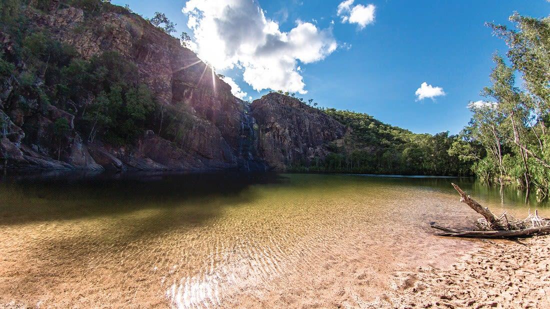 Australia Kakadu Gunlom Falls 122389-3