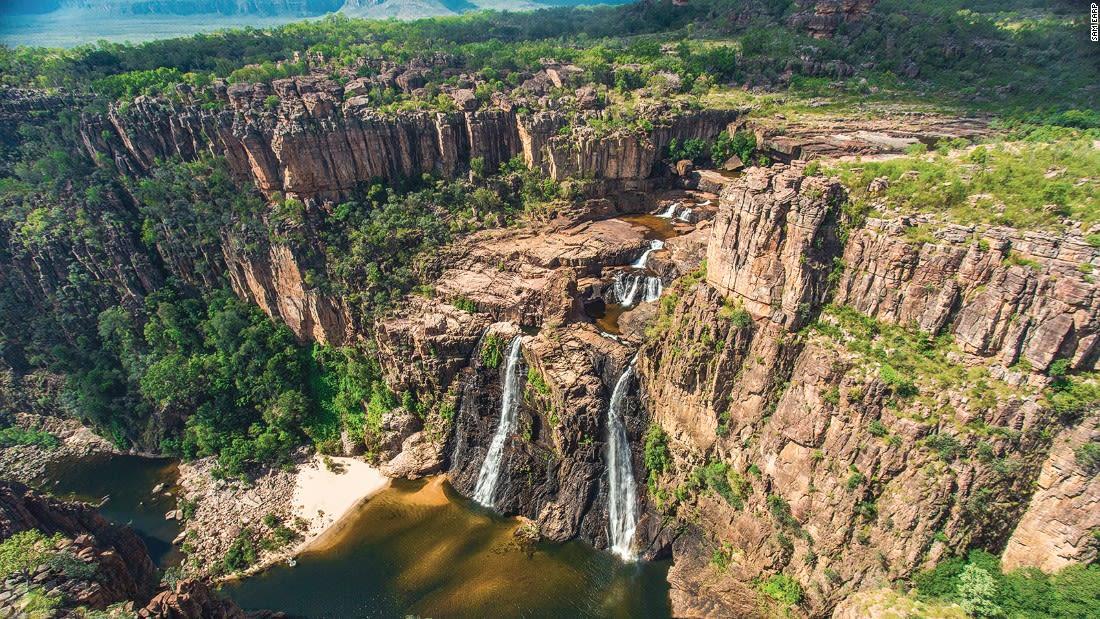 Australia Kakadu Twin Falls Aerial 122397-3