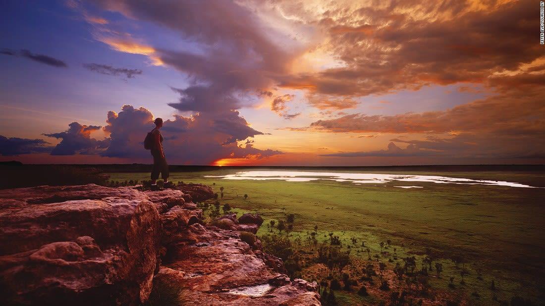Australia Kakadu Ubirr Sunset, Kakadu National Park 110986-3