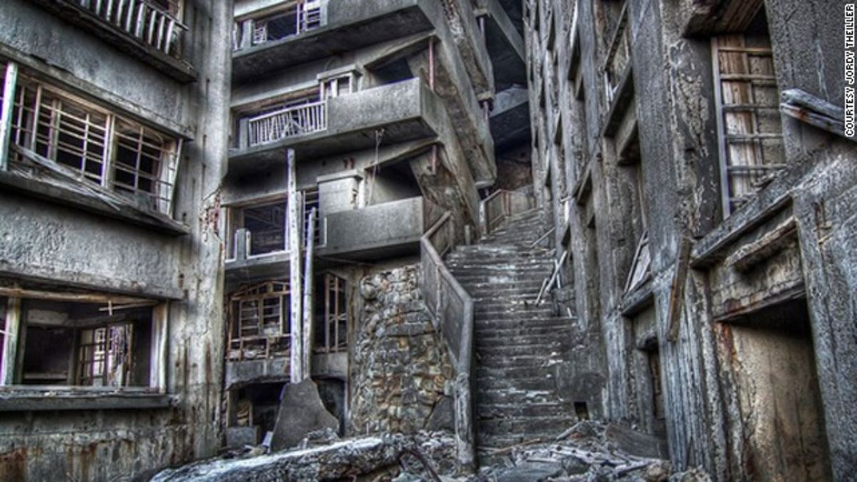 Image result for Hashima Island in Japan