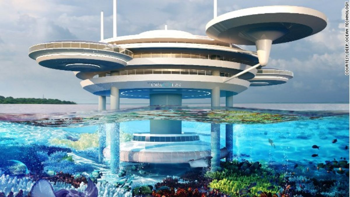 Underwater hotel Planet Ocean Cnncom Spaceage Underwater Hotel To Be Built Cnn Travel