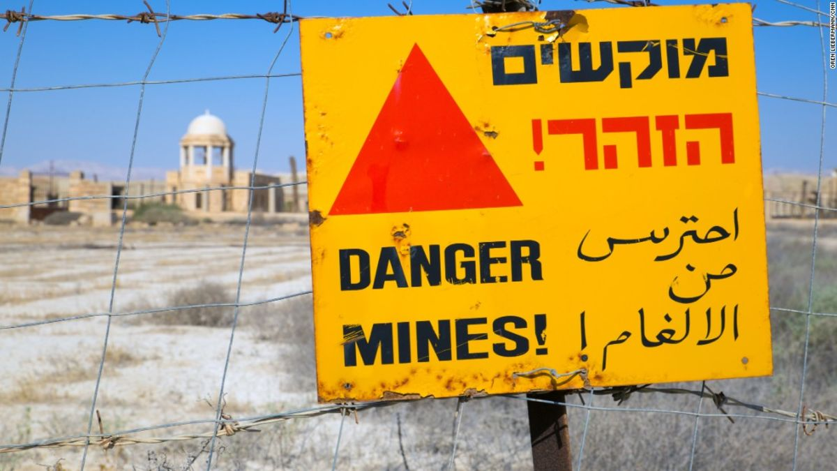 54ecdd945e9030 Churches near Jesus  baptism site to be cleared of mines