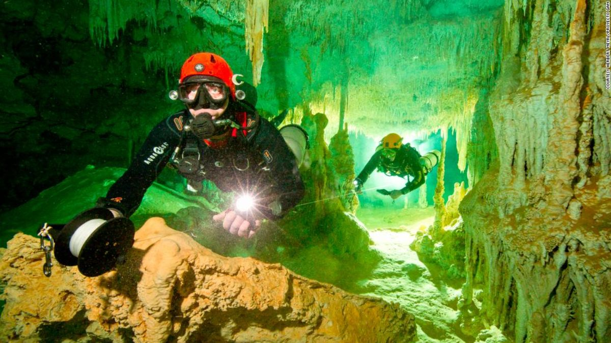 Divers discover world's longest underwater cave system in Mexico