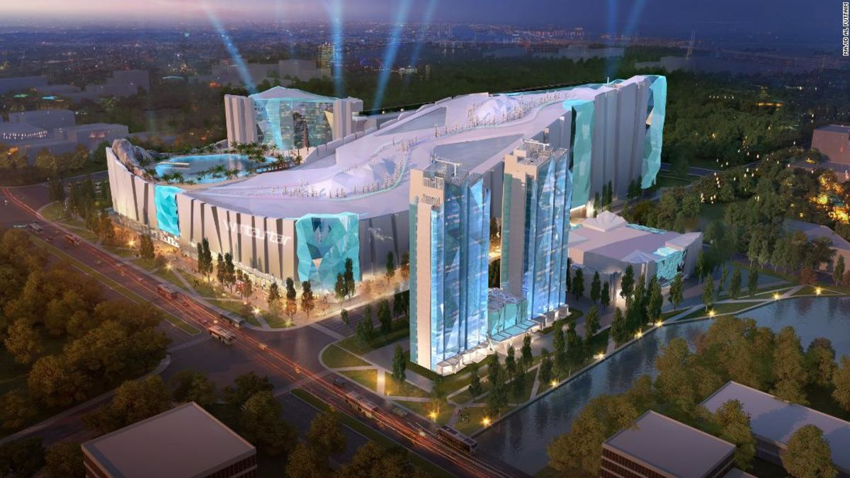 'World's largest indoor ski resort' coming to China -- via Dubai