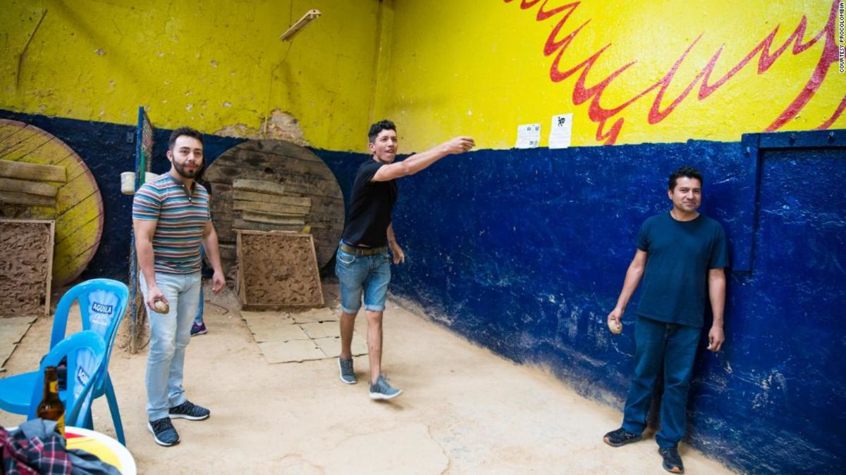 Gunpowder and beer: Playing Colombia's national sport of tejo