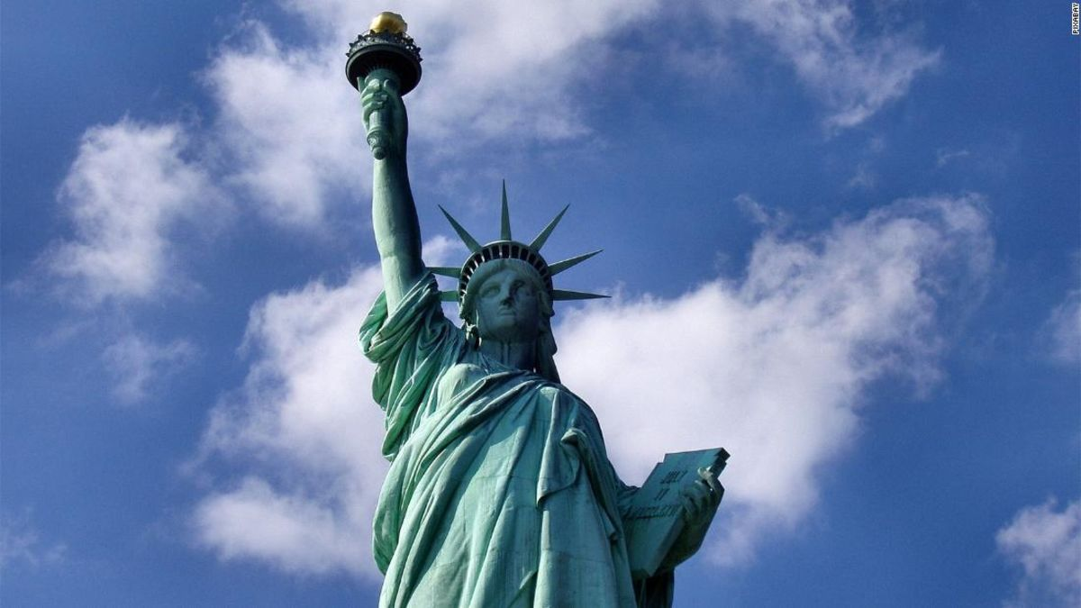 statue of liberty s original torch heads to new museum cnn travel