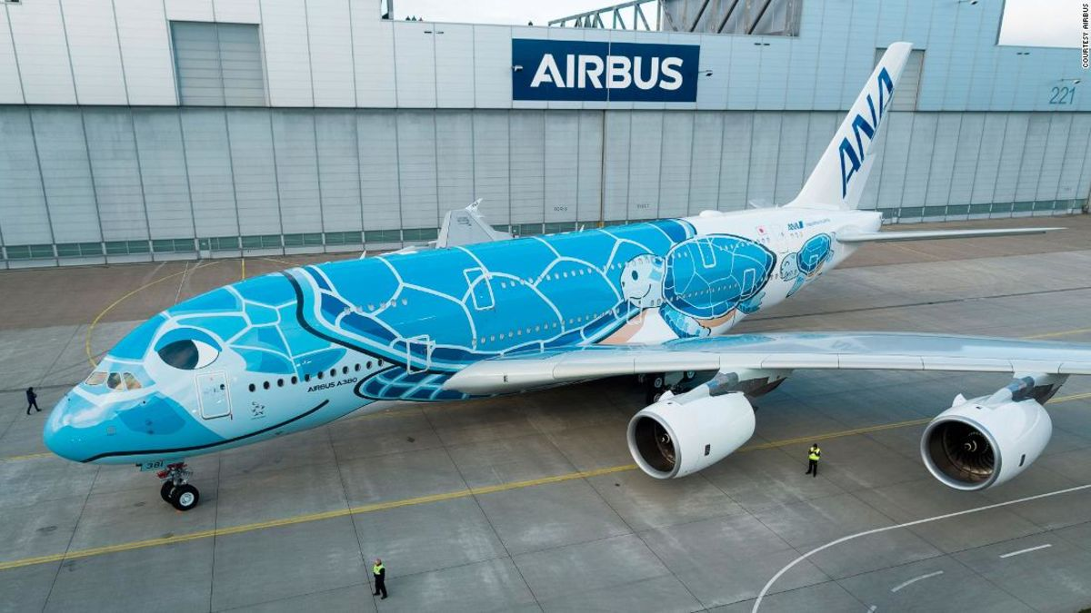 A380 'Flying turtle' ready for take off