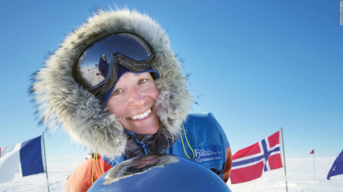 Johanna Davidsson: The accidental Antarctic record-breaker