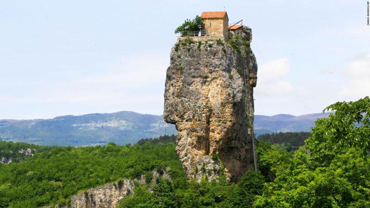 Where daredevil monks climb closer to God
