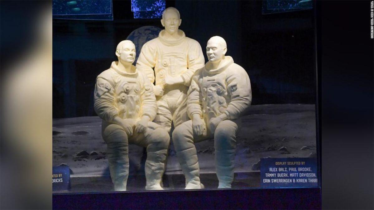 Apollo 11 astronauts receive a buttery tribute at the Ohio ...