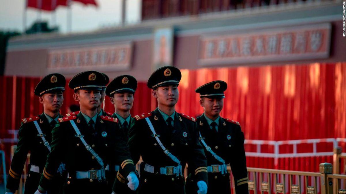 Peking auf höchste Alarmstufe vor dem 1. Oktober nationale feier