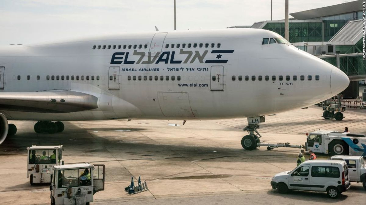 El Al nimmt Abschied von 747 Flugzeug mit sky-Kunst 'Zeichnung'