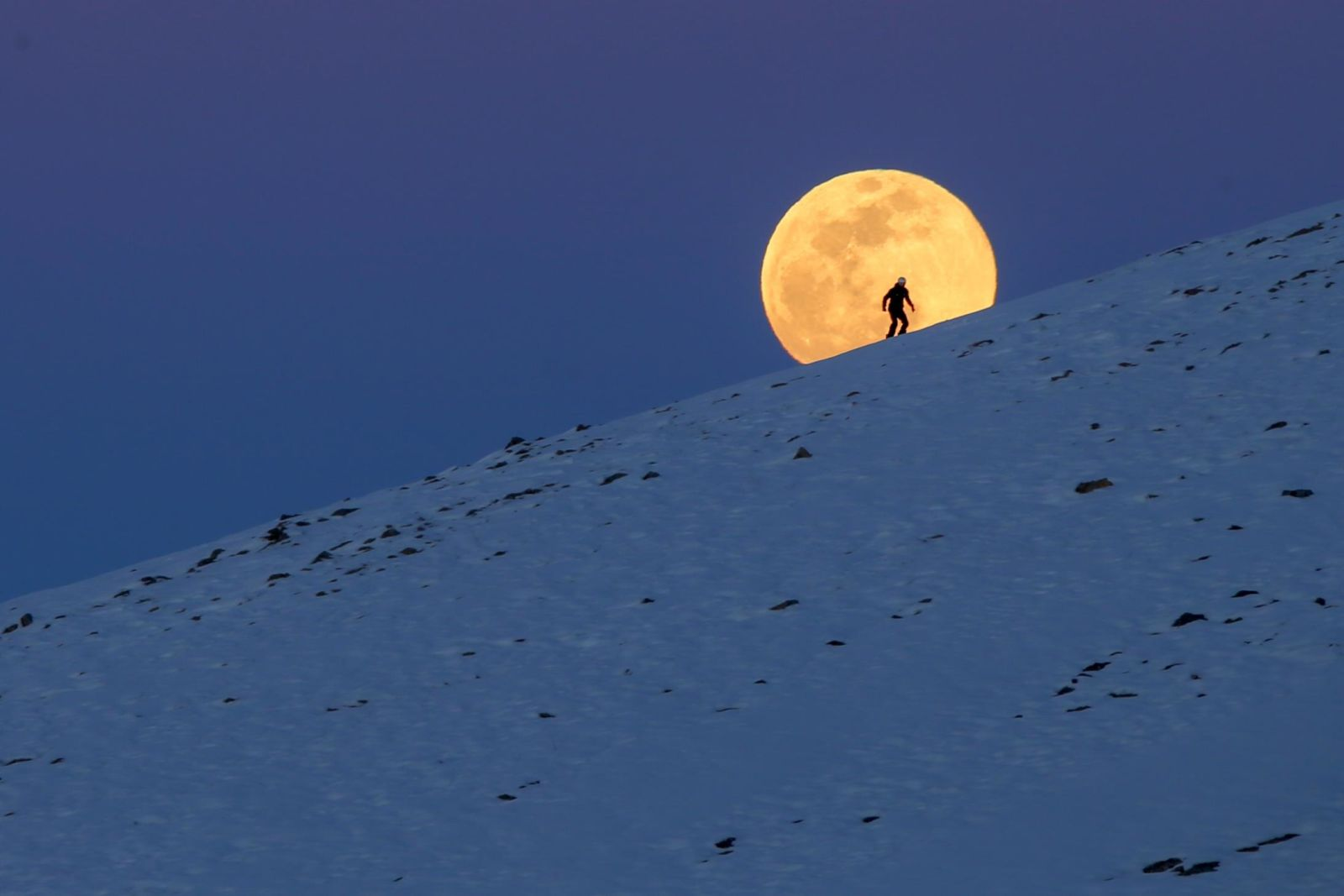 The 'super snow moon,' in pictures