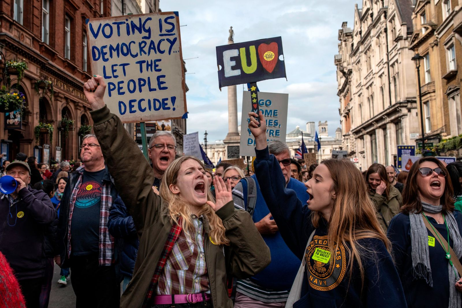 In photos: Thousands join 'People's Vote' protest