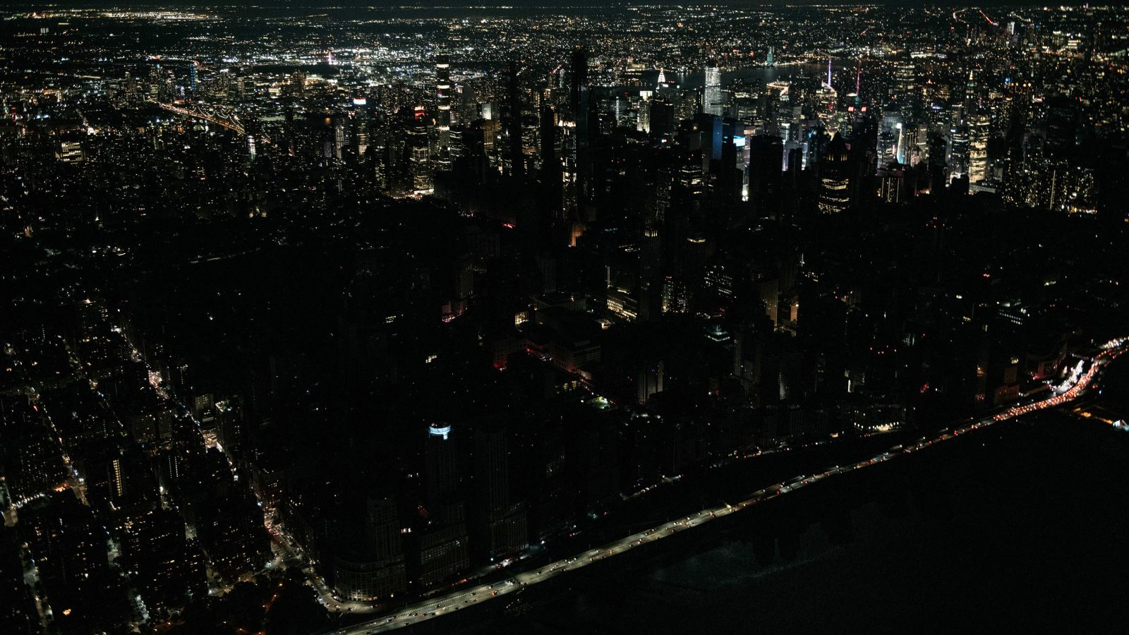 Parts of Manhattan in the dark after power outage