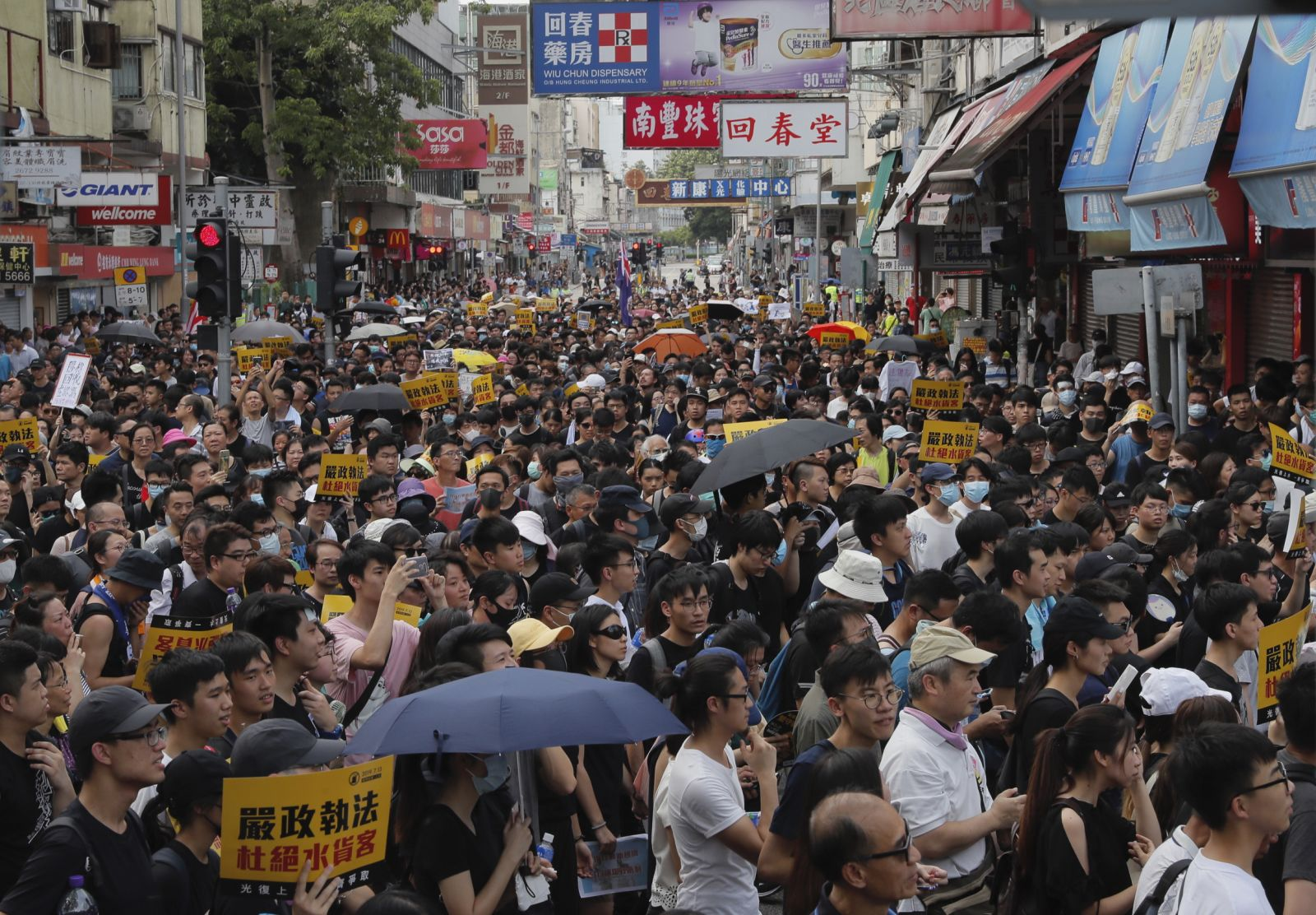 In pictures: Hong Kong protesters storm government building