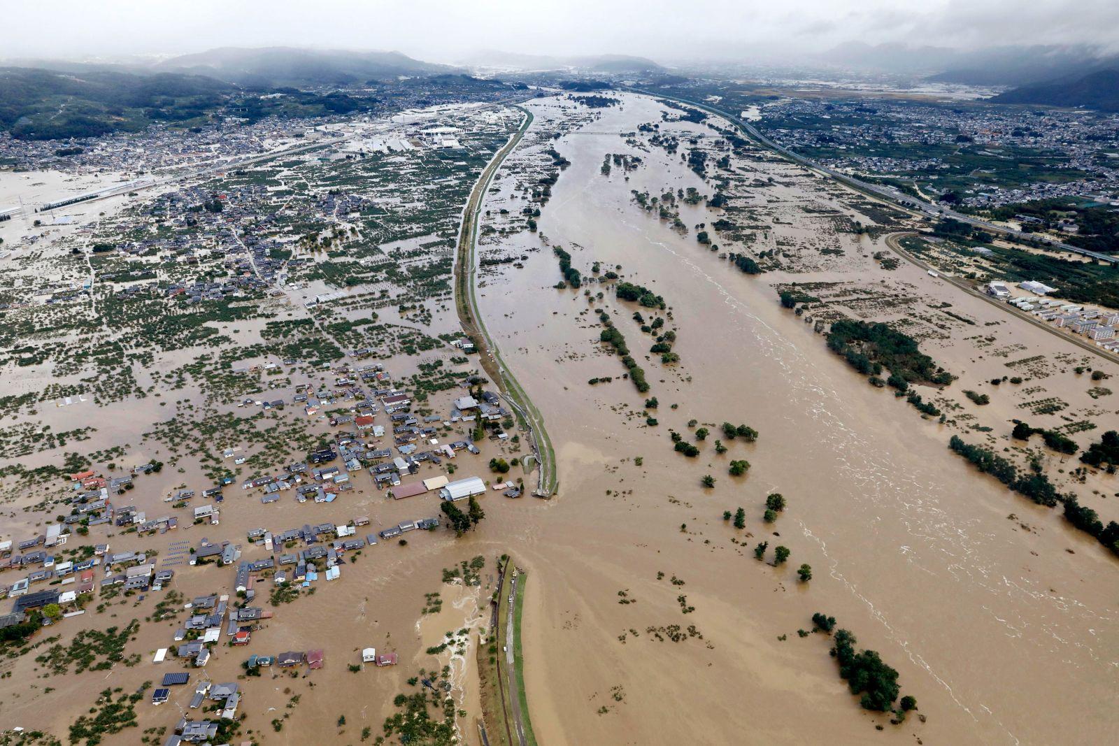 In photos: Typhoon Hagibis hits Japan