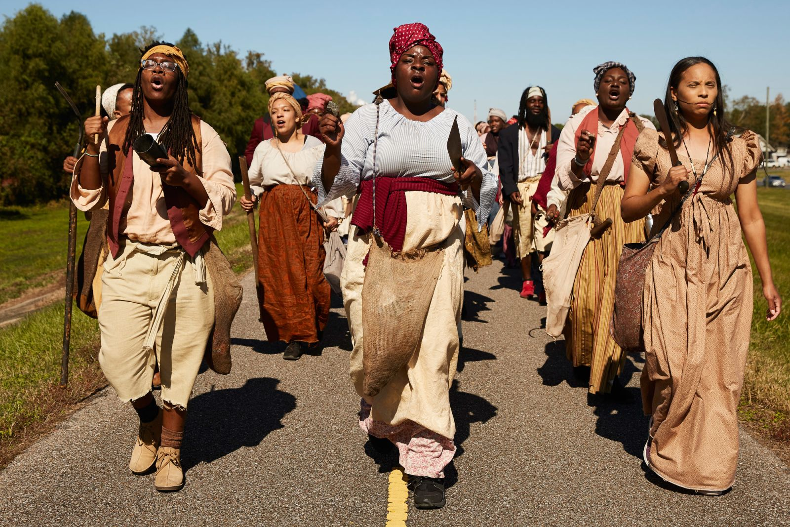 Reenacting the largest slave revolt in US history