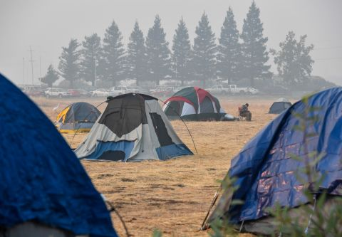 The tent city in Chico is about 10 minutes from Paradise California a town destroyed by the C& Fire. & Photos: Wildfire evacuees take refuge in Walmart parking lot