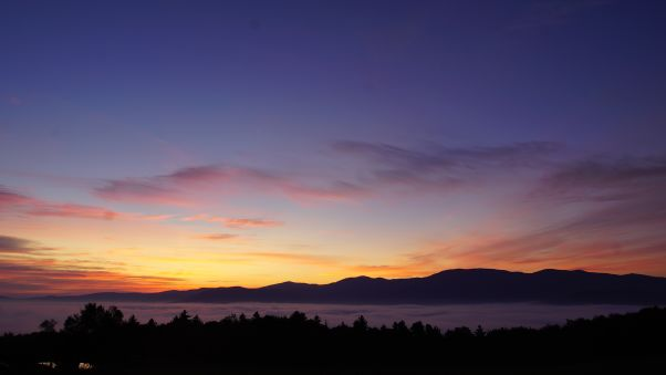 Sunset at the Trapp Family Lodge.