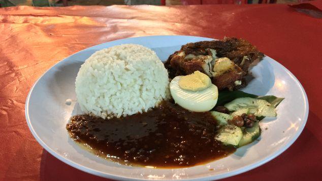 Nasi lemak -- food of a nation.