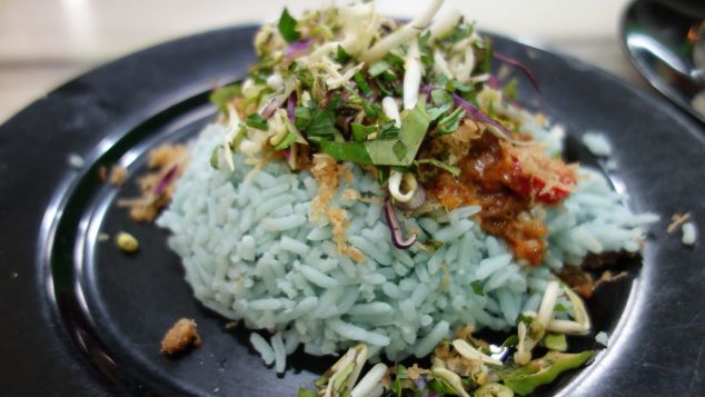 Don't let the blue rice put you off.