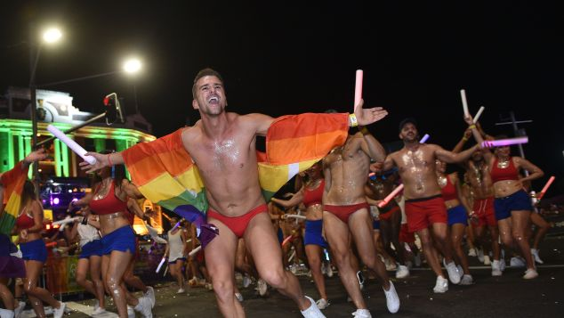Join the party at the Sydney gay and lesbian Mardi Gras Parade in Sydney.