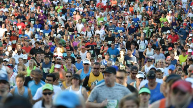 Runners take part in the annual City2Surf road race in Sydney.