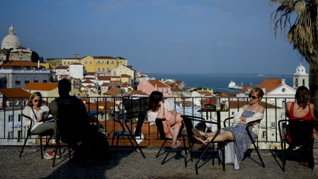 A steep uphill climb to Portas do Sol square is rewarded with a breathtaking view of Lisbon.