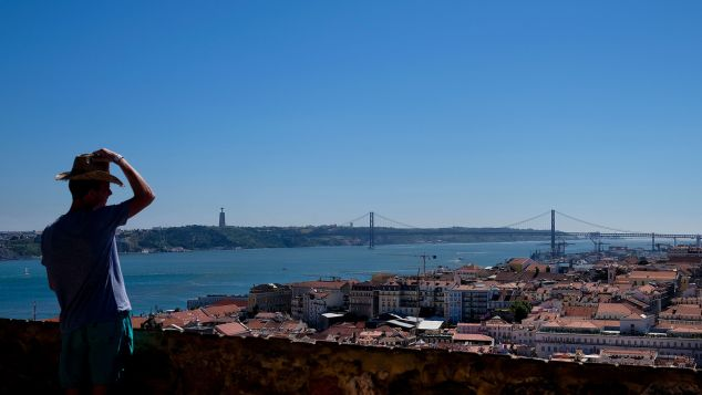 Lisbon's Tagus River is a 15-kilometer stretch where you can spy orange commuter ferries and colonies of flamingoes.