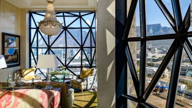 The penthouse at The Silo looks out at Cape Town's iconic Table Mountain.