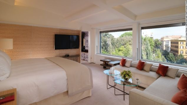 The Bellavista penthouse suite makes the most of its city surroundings.