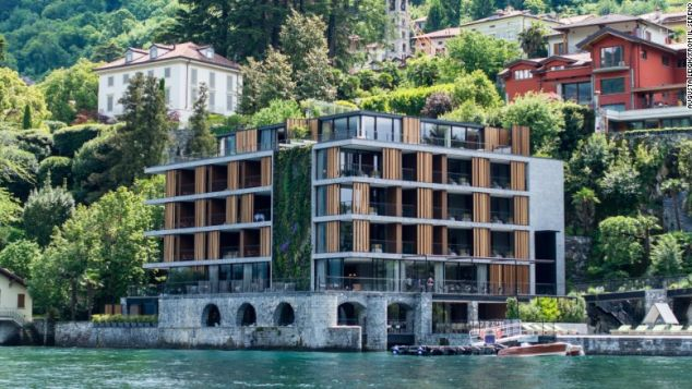 Il Sereno's fourth-floor penthouses have views of beautiful Lake Como.