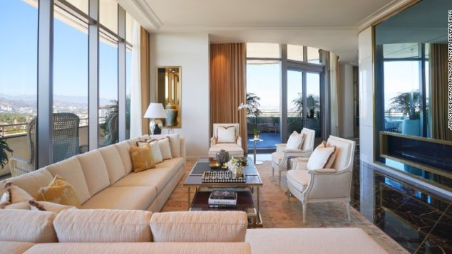 The Presidential Penthouse at the Waldorf Astoria Beverly Hills rents for $20,000 a night.