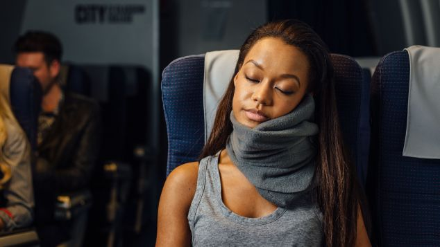 The Trtl travel pillow creates a kind of hammock for your neck.