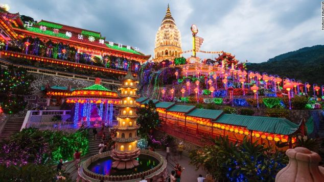 Penang's Kek Lok Si is a major draw for Buddhists across Southeast Asia.