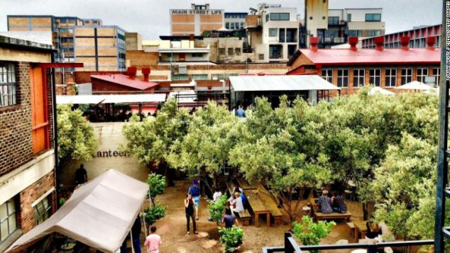 Cafes in the Maboneng precinct are part of what's giving new energy to Johannesburg.