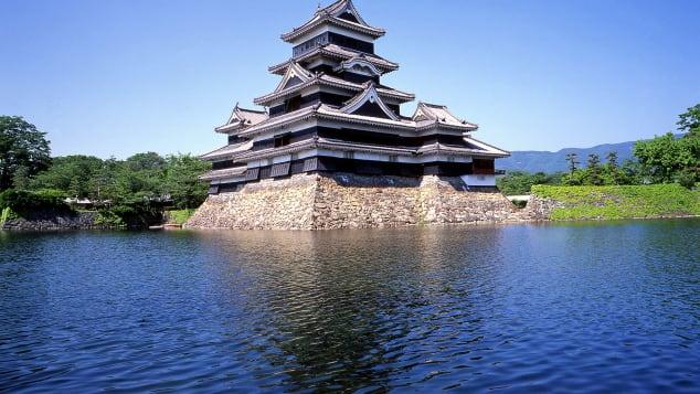 lâu đài đẹp Nhật Bản Matsumoto