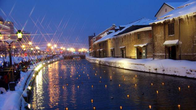 đẹp Nhật Bản Otaru Lễ hội Tuyết Ánh Sáng Tuyết