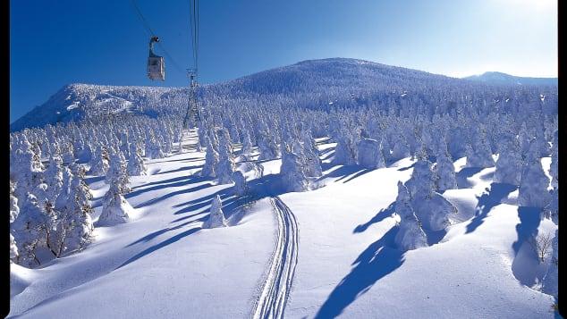 khu nghỉ mát trượt tuyết Zao Onsen ở Nhật Bản xinh đẹp