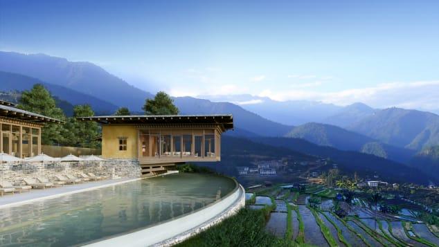Best new hotels 2018 Six Senses Bhutan exterior