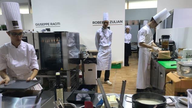 Training pits at the Accademia Bocuse d'Or Italia