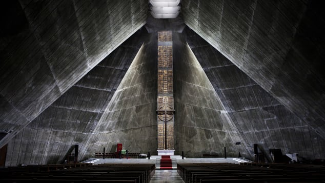 Paider's around-the-world trip took in very diverse locations. Pictured here: St Mary's Cathedral, Tokyo, Japan.