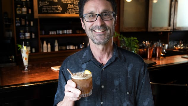 Steve Corman holds the Cider Smash.