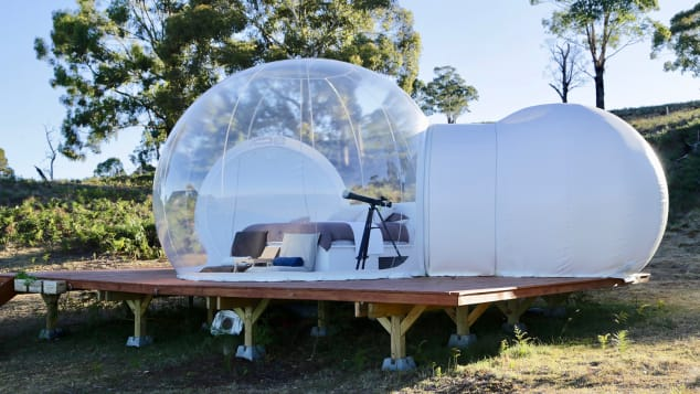 Australia's first bubbletents glamping