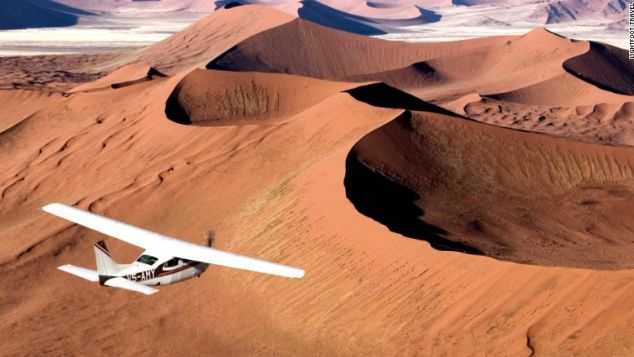 Wild and eerie: The Namib Desert.