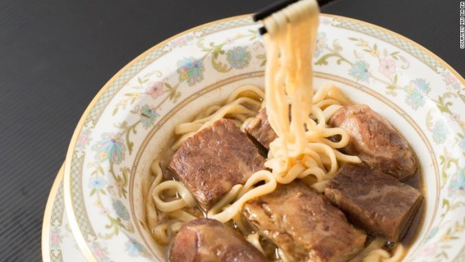 Taiwan shop serves world's most expensive beef noodle soup