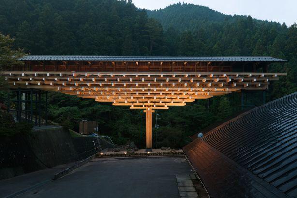 kengo kuma Yusuhara Wooden Bridge Museum