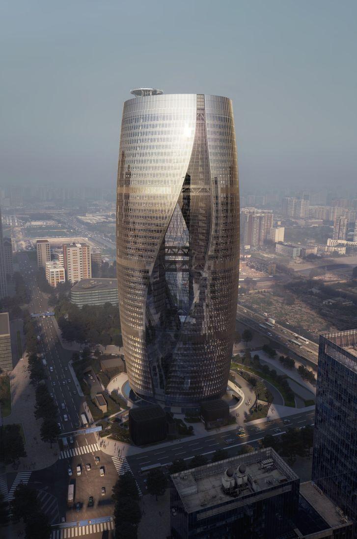 The Leeza SOHO by Zaha Hadid in Beijing.